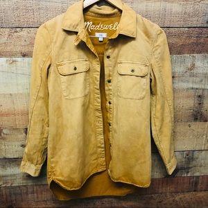 Madewell Button up ombré yellow shirt